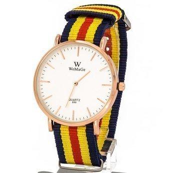 Zegarek pleciony żółty